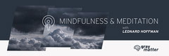 Navy Clouds Photo Meditation Podcast Horizontal Banner Blue