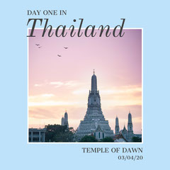 day one in Thailand Instagram square Vacation