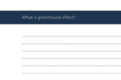 What is greenhouse effect? Education