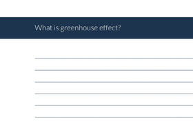 What is greenhouse effect?