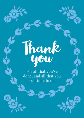 card Thank You Card