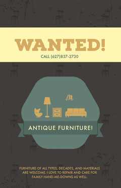 Wanted Antique Furniture Flyer Furniture Sale