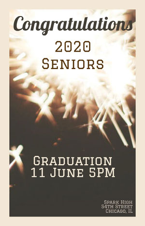 Black With Sparkles Congratulations Poster Graduation Poster