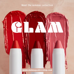 pink cream glam lipsticks makeup summer collection instagram square  Makeup
