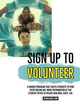 Blue Student Volunteering Program Flyer Octavilla