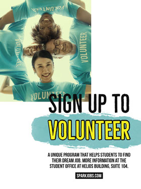 Blue Student Volunteering Program Flyer Flyer