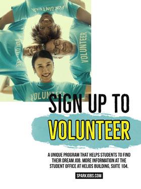 Blue Student Volunteering Program Flyer Flyer