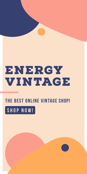 ENERGY VINTAGE Advertisement Flyer