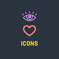 Black Icons Square Instagram Graphic Heart