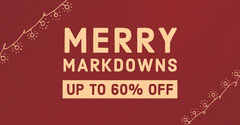 MERRY<BR>MARKDOWNS Red