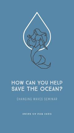 Ocean seminar Instagram Story Seminar Flyer