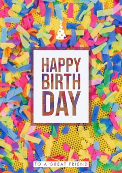 Happy Birth<BR>day Confetti
