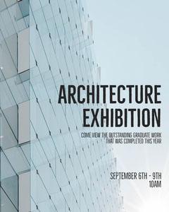 Grey Glass Graduate Architecture Exhibition Instagram Portrait  Architecture