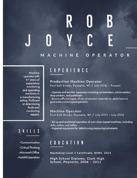 JOYCE Currículum creativo