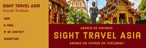 Sight Travel Asia  Billet de tombola