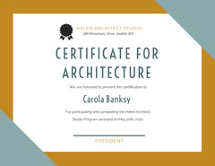 Gold and Silver Architecture Completion Certificate Educational Course