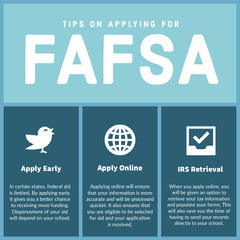 Blue and White Fafsa Apply Tips Instagram Post Tax Flyer