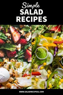 Black With Photos Simple Salad Recipes Pinterest  Pinterest