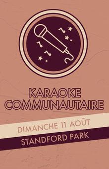 karaoke event poster Affiche