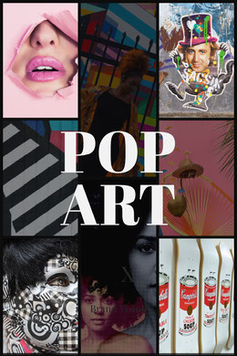 Black With Colorful Pop Art Collage Montage photo