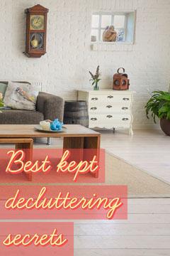 Yellow & Pink Best Kept Decluttering Secrets Pinterest Cleaning Service