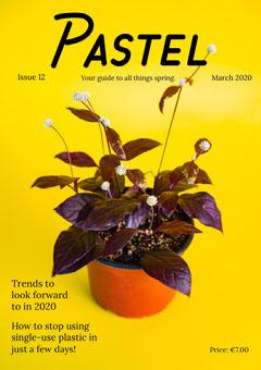 Yellow Houseplant Spring Magazine Cover Plants