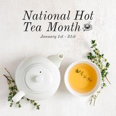 Minimal National Hot Tea Month IG Square Tea Time