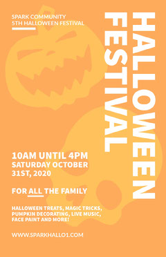 Halloween poster Family