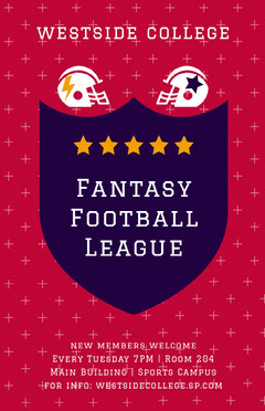 fantasy football league poster Football
