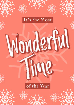 Red Coral White Most Wonderful Time Of The Year Poster Hannukkah