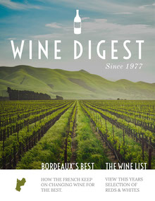 Wine Digest Magazine Cover