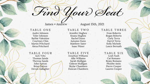 Botanical Wedding Seating Chart 결혼식 자리 배치