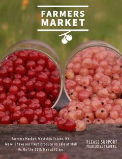 FARMERS MARKET Food Flyer