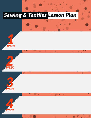 Blue and Orange Sewing and Texiles School Lesson Plan Horario de clase