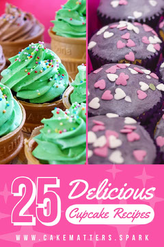 Pink, Green and Purple, Cupcake Recipes Tips, Pinterest Post Cupcake