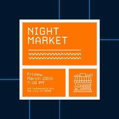 night market instagram  Orange