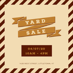 stripe banner yard sale igsquare Yard Sale Flyer