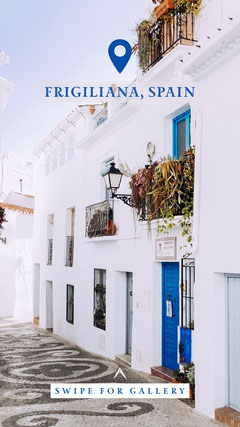 frigiliana Spain Instagram story Vacation