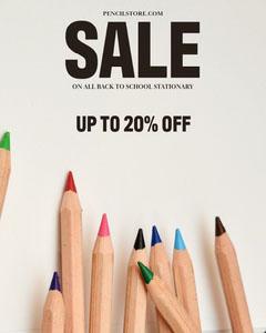 Pencil store Sale Instagram Portrait Discount