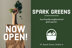 White and Green Spar Greens Social Post Garden