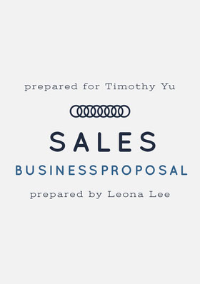 Black and White Business Proposal Forslag