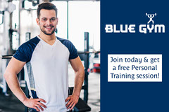 Blue Gym Free PT Session Offer Landscape Gym