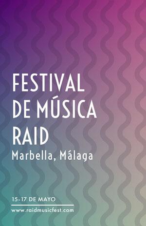 FESTIVAL <BR>DE MÚSICA RAID Pósters para Festivales de música