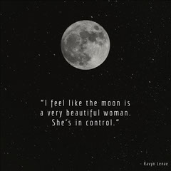 Black and White Moon Quote Instagram Graphic Night