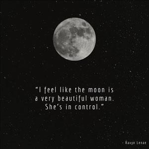 Black and White Moon Quote Instagram Graphic Messaggi della buona notte