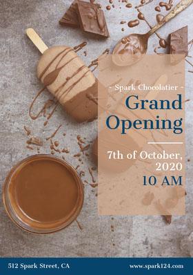 Grand Opening Folleto de invitación a evento