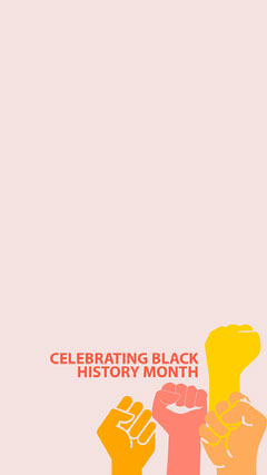 Pink and Yellow, Minimalistic Black History Mont Instagram Story History