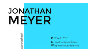 Cyan Profressional Accountant Business Card Tarjeta de visita