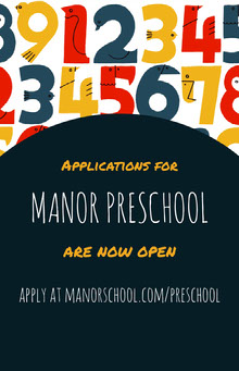 MANOR PRESCHOOL  School Posters