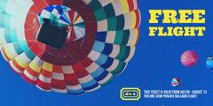 Blue and Yellow Balloon Flight Ticket Balloon